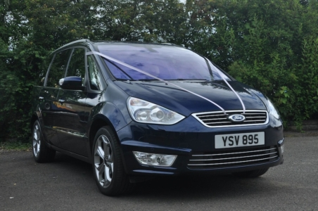 A 2010 Ford Galaxy Titanium X in Ink Blue.