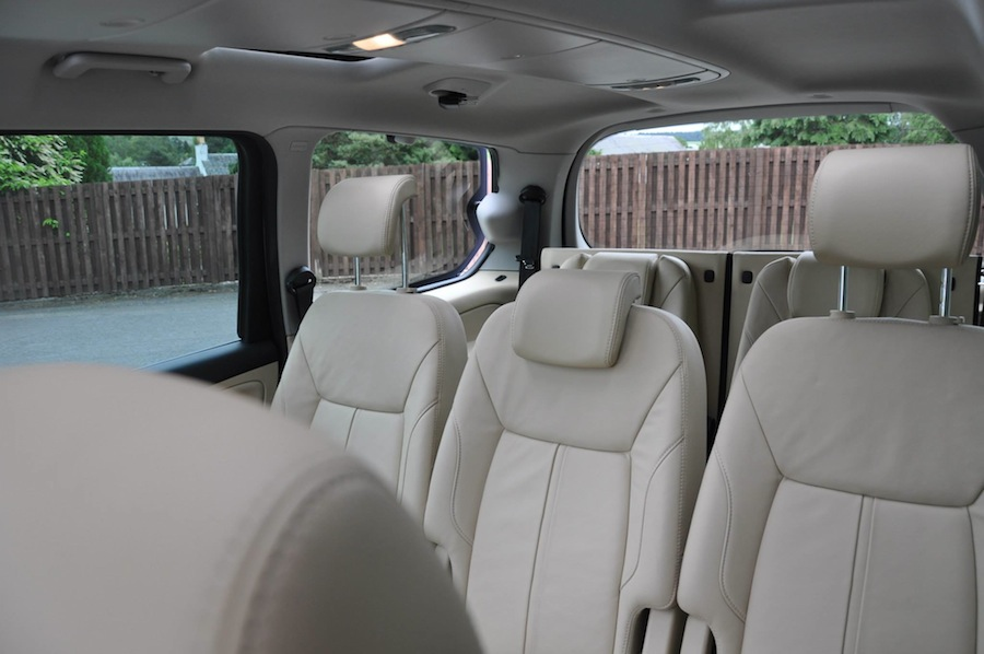 A 2010 Ford Galaxy Titanium X in Ink Blue with a rare Cream Leather interior.
