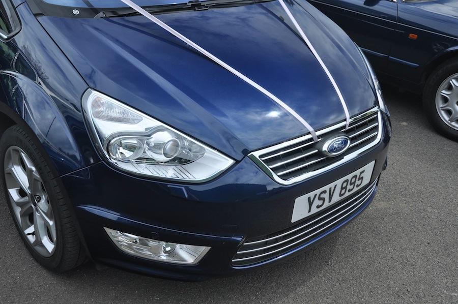 A 2010 Ford Galaxy Titanium X in Ink Blue.