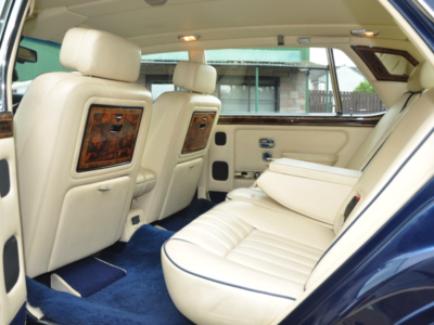 A 1993 Silver Spur III in Royal Blue. The interior is Magnolia leather trimmed in Royal Blue.
